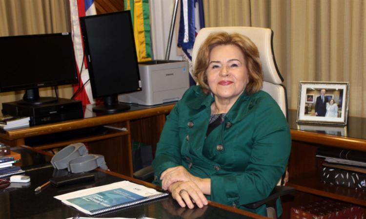 Ex-presidente do TRT-BA, Maria Adna foi afastada do cargo pelo CNJ   Foto: Divulgação   Ascom TRT-BA - Foto: Foto: Divulgação   Ascom TRT-BA