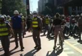 Ato pró-democracia tem confronto entre torcedores, bolsonaristas e PMs em sP | Foto: Reprodução | GloboNews