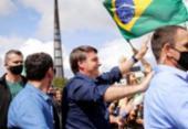 Bolsonaro cumprimenta apoiadores em ato em Brasília | Foto: Reprodução | Agência Brasil
