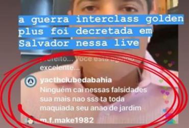 Perfil falso do Yacht Clube da Bahia ataca ACM Neto em redes sociais | Reprodução | Redes Sociais