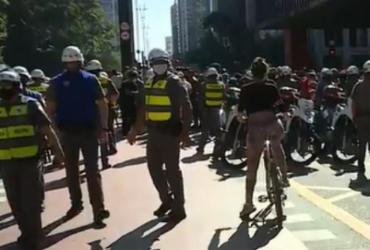 Ato pró-democracia tem confronto entre torcedores, bolsonaristas e PMs em sP | Reprodução | GloboNews