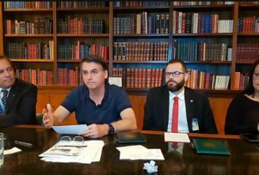 Bolsonaro analisa três nomes e prevê evangélico para STF   Reprodução