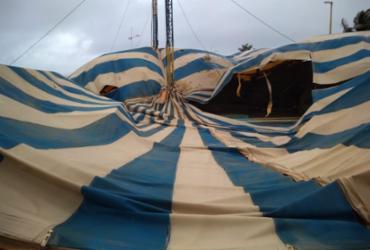 Lona do Circo PIcolino desaba por causa da chuva | Divulgação