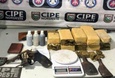 Suspeito morre e 10 kg de maconha são apreendidos em Tucano