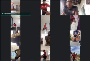 Em videoconferência, elenco do Vitória inicia treinamento virtual | Divulgação | EC Vitória