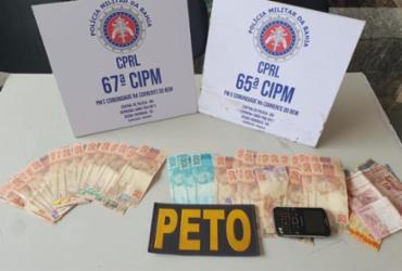 Suspeito de tráfico é flagrado com R$ 2,5 mil em notas falsas
