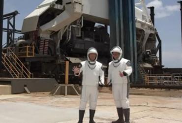 SpaceX avança com plano de lançamento de seu primeiro foguete tripulado | Nasa TV | AFP