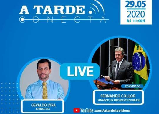 Acompanhe e participe da entrevista com o senador Fernando Collor   Editoria de Arte de A TARDE
