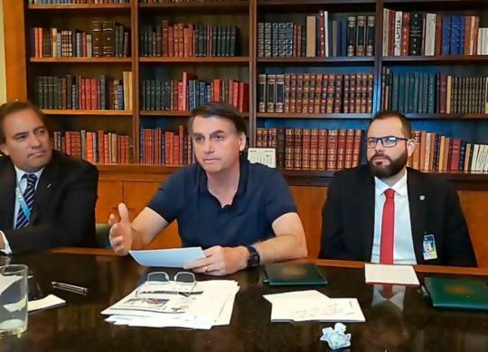 Bolsonaro analisa três nomes e prevê evangélico para STF | Reprodução