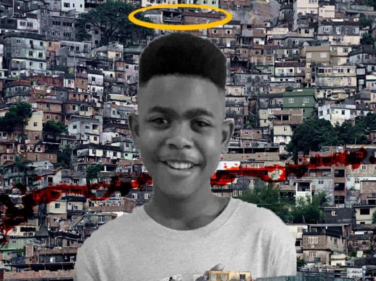 João Pedro, 14 anos, foi morto dentro de casa durante uma operação da polícia no Rio de Janeiro | Arte: Konan - Foto: Konan