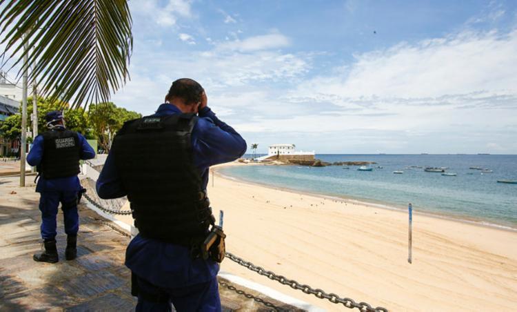 Situação ocorreu na Barra | Foto: Laryssa Machado | Ag. A TARDE - Foto: Laryssa Machado | Ag. A TARDE