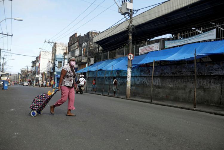 Ruas vazias têm apoio de 74% em Salvador, segundo levantamento | Foto: Felipe Iruatã | Ag. A TARDE - Foto: Felipe Iruatã | Ag. A TARDE