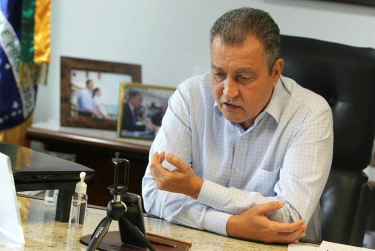 O governador Rui Costa anuncia antecipação de feriados em nove municípios - Foto: Elói Correa | GOVBA