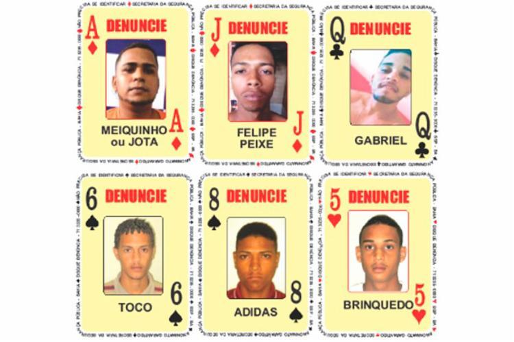 Seis novas cartas foram adicionadas ao Baralho do Crime | Foto: Divulgação | SSP-BA - Foto: Divulgação | SSP-BA