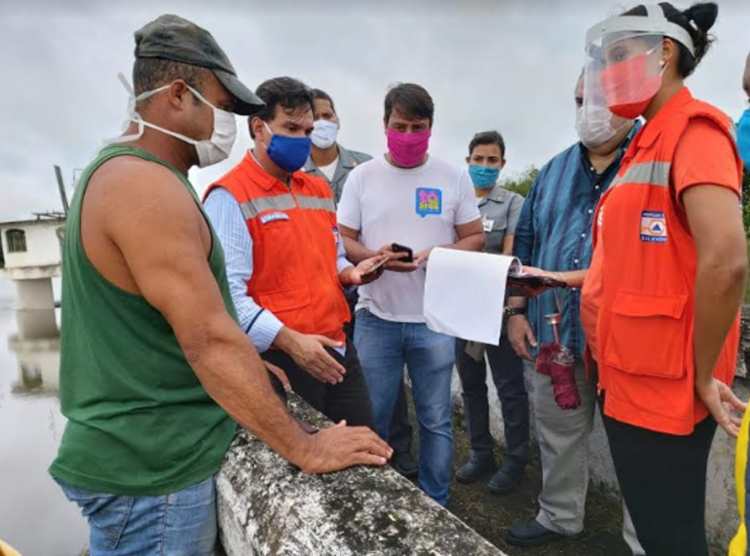 Moradores denunciam que rachaduras na barragem estão piorando com as chuvas - Foto: Divulgação | Secom