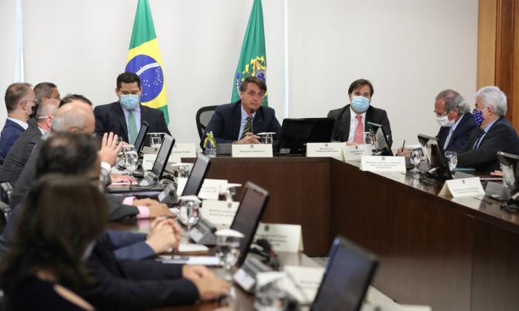 Tom conciliador da reunião de Bolsonaro com governadores animou o mercado - Foto: Marcos Côrrea   PR