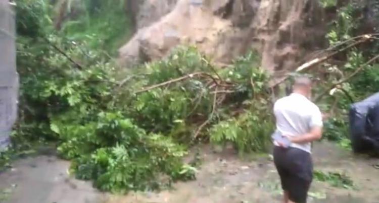 Deslizamento de terra provocou estragos | Foto: Reprodução - Foto: Cidadão Repórter