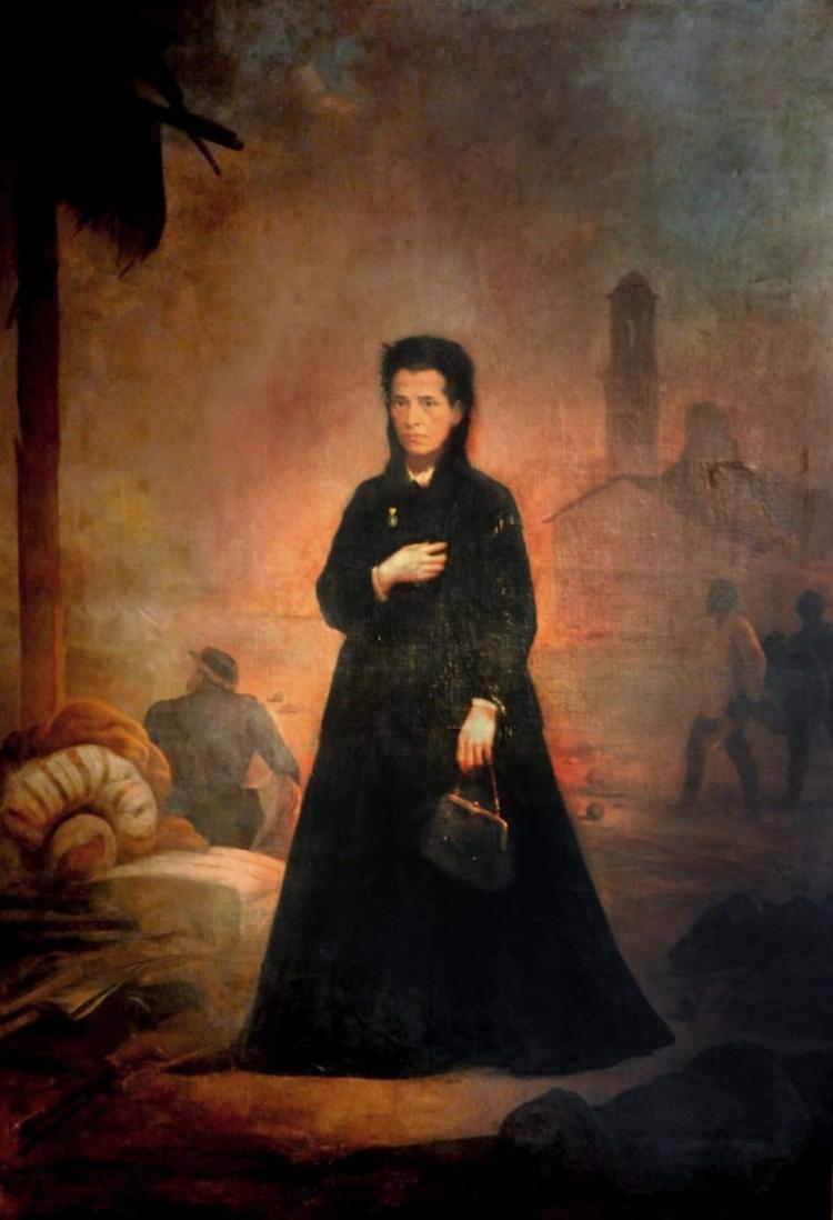 Ana Nery, em obra do artista Victor Meirelles, instalada em 1873 na Câmara Municipal de Salvador | Foto: Divulgação | Secom CMS - Foto: Divulgação | Secom CMS