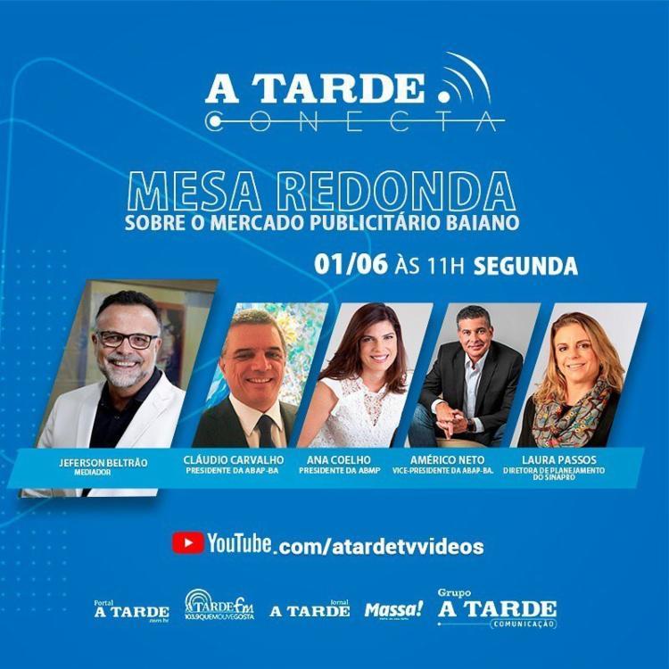 Lives do projeto Mesa Redonda serão transmitidas através do Youtube | Arte: Ag. A TARDE - Foto: Ag. A TARDE