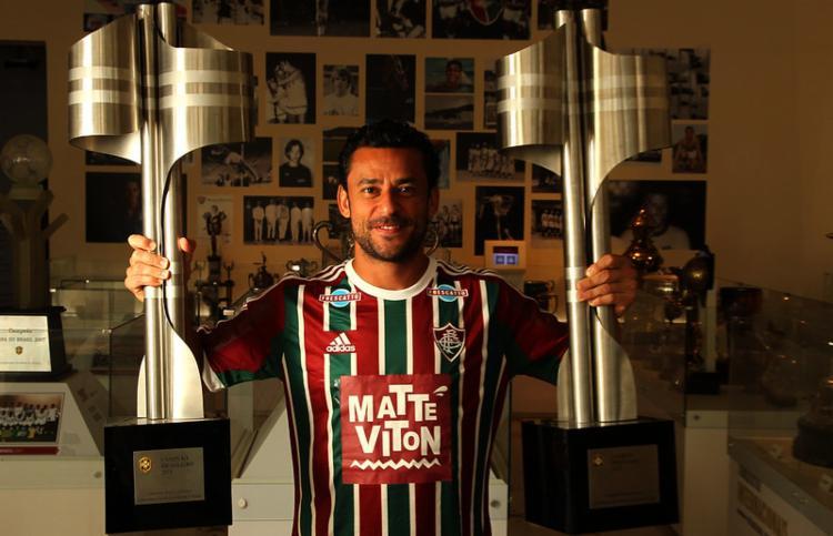 Na primeira passagem, Fred defendeu o Fluminense por sete temporadas, conquistando dois brasileiros   Foto: Divulgação   Fluminense F.C - Foto: Divulgação   Fluminense F.C