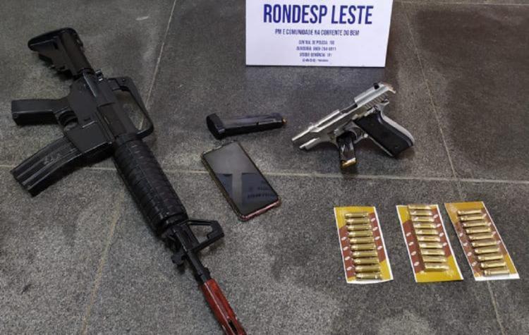 Materiais foram encontrados no bairro Campo Limpo | Foto: Reprodução | SSP - Foto: Reprodução | SSP