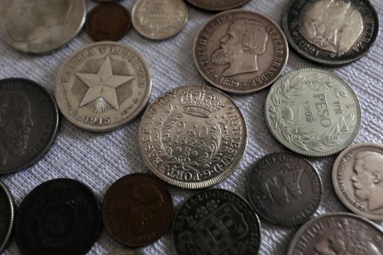 Alguns itens da coleção do comerciante