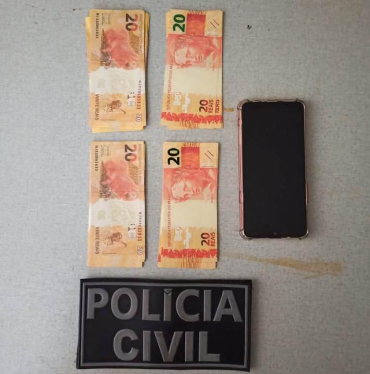 Suspeito confessou que essa era a segunda vez que adquiria as cédulas falsificadas pela internet | Foto: Divulgação | SSP - Foto: Divulgação | SSP