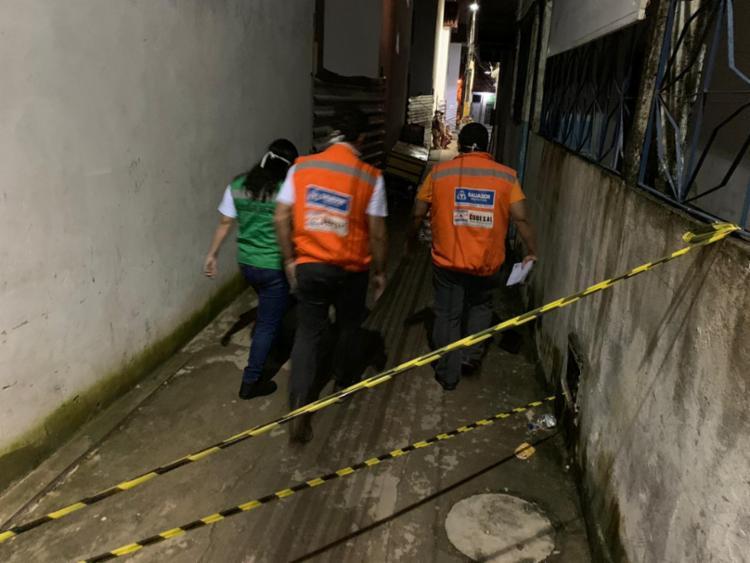 Técnicos da Codesal e da Sempre foram ao local verificar a situação - Foto: Divulgação