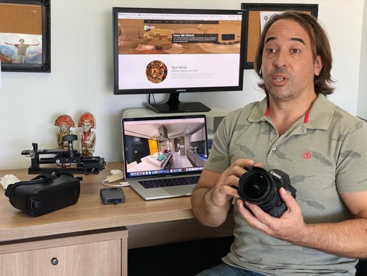 Rodrigo trabalha com fotos em 360º | Foto: Rodrigo Tagliaro | Divulgação - Foto: Rodrigo Tagliaro | Divulgação