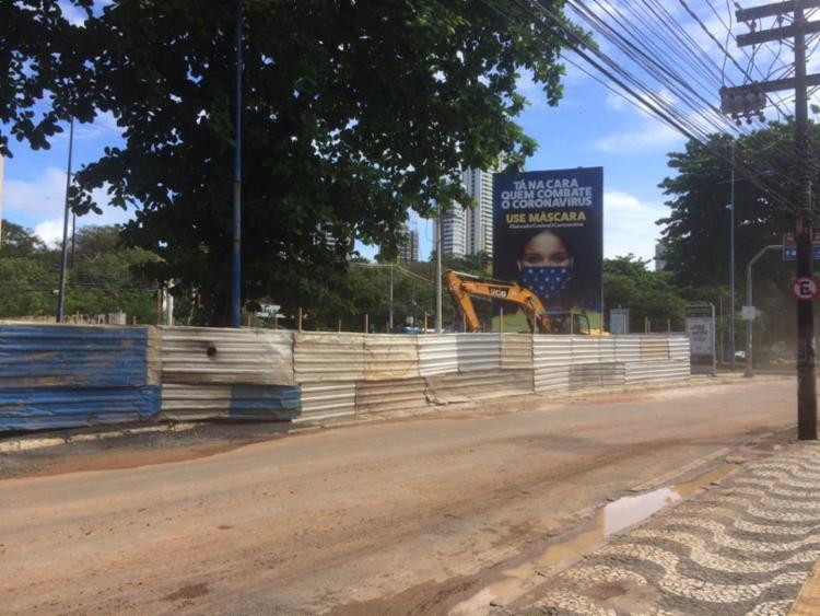 A construção foi alvo de denúncias de moradores de Ondina | Foto: Reprodução | Cidadão Repórter - Foto: Reprodução | Cidadão Repórter