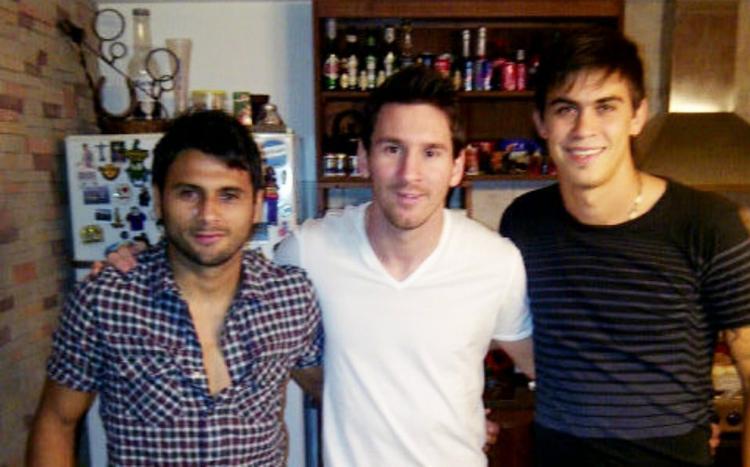 Maxi e Emanuel com o primo Lionel Messi   Foto: Arquivo Pessoal - Foto: Foto: Arquivo Pessoal