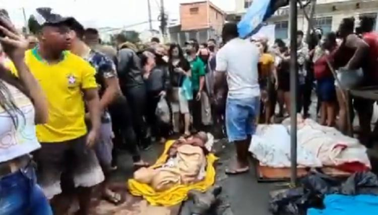 Ação gerou tumulto e aglomeração nas ruas do Complexo | Foto: Reprodução | Twitter - Foto: Reprodução | Twitter