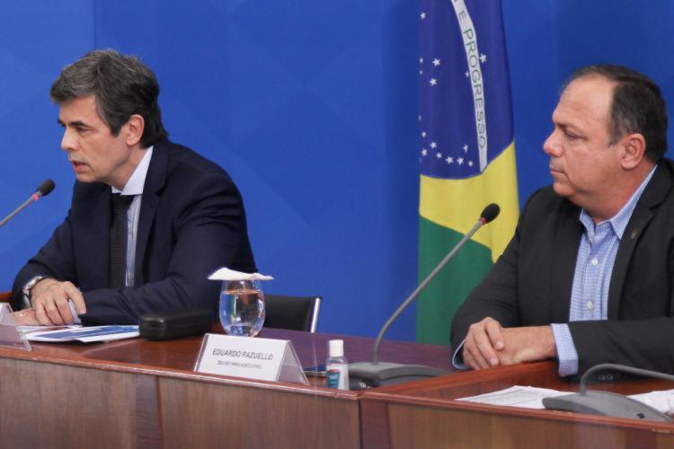 Pazuello era braço direito de Teich no Ministério da Saúde | Foto: Júlio Nascimento | PR - Foto: Júlio Nascimento | PR