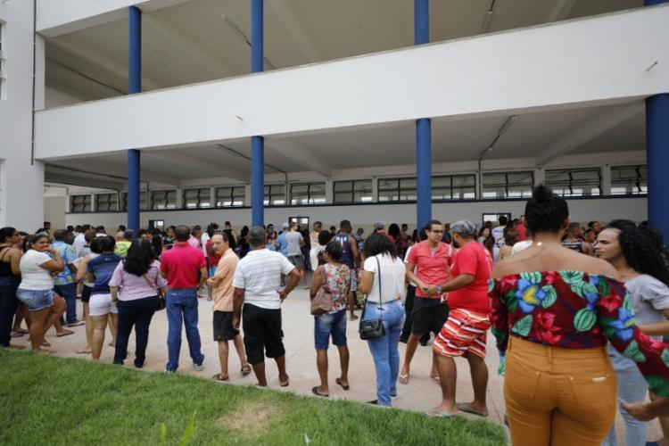 Filas e algomerações no dia da votação também colocariam o eleitor em risco | Foto: Joá Souza | Ag. A TARDE - Foto: Joá Souza | Ag. A TARDE
