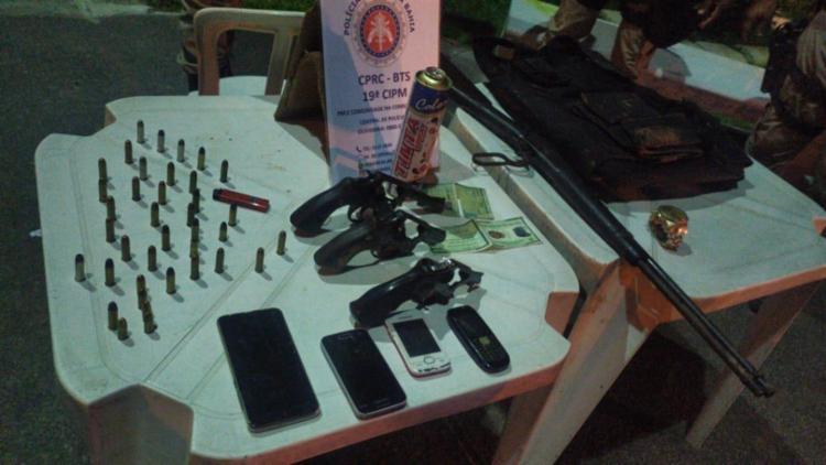 Grupo foi interceptado por equipes da 19ª CIPM na Estrada do Derba | Foto: Divulgação | SSP-BA - Foto: Divulgação | SSP-BA