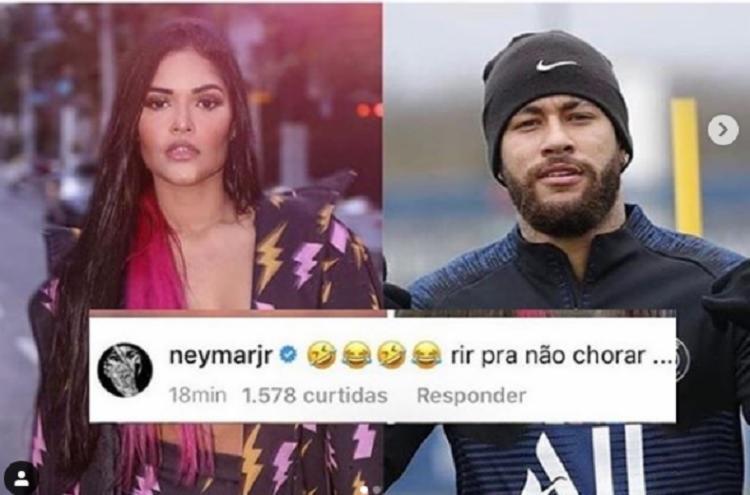 O jogador Neymar, ao saber da repercussão da live de Flay com o youtuber Matheus Mazzafera | Foto: Reprodução | Instagram - Foto: Reprodução | Instagram