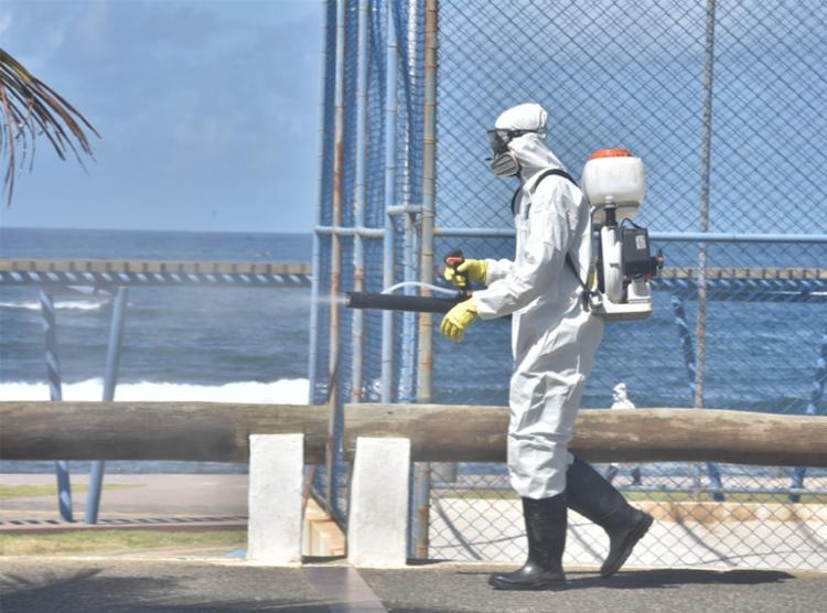 Mais de 100 ruas já foram higienizadas neste a última segunda, feira, 11 | Foto: Max Haack | Divulgação | Secom
