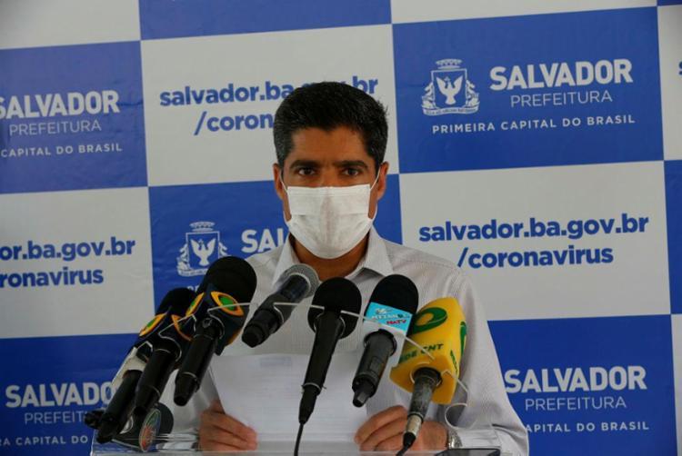 Prefeito comentou intenção do presidente de buscar liberação de praias / Foto: Rafael Martins | Ag. A TARDE - Foto: Rafael Martins | Ag. A TARDE