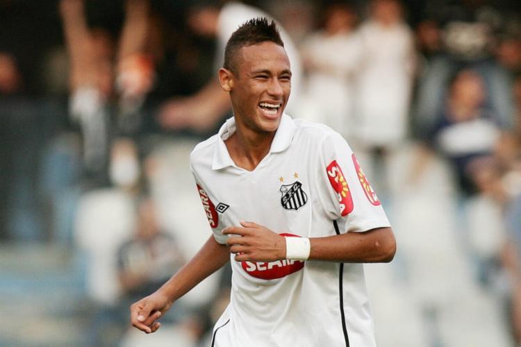 Neymar ainda marcou duas vezes na grande final, contra o Santo André   Foto: Ricardo Saibun   Santos FC - Foto: Ricardo Saibun   Santos FC