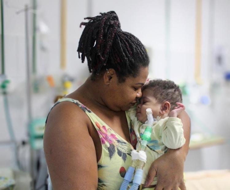 A UTD é um setor do hospital que treina familiares para serem também cuidadores dos seus filhos - Foto: Divulgação|