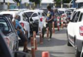 Motoristas enfrentam filas de 2h para embarcar no ferryboat | Foto: Raphael Muller | Ag. A TARDE | Ilustrativa