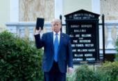 Trump é processado por ação policial próximo à Casa Branca | Foto: Brendan Smialowski | AFP