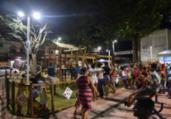Praça vandalizada em Cosme de Farias é interditada   Max Haack   Secom