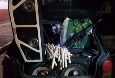 Ação conjunta apreende fuzil, explosivos e droga em Conceição do Jacuípe | Divulgação | SSP-BA