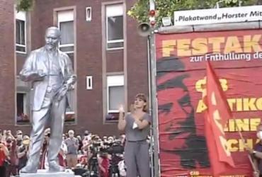 Polêmica estátua de Lenin é inaugurada na Alemanha | Reprodução | AFP