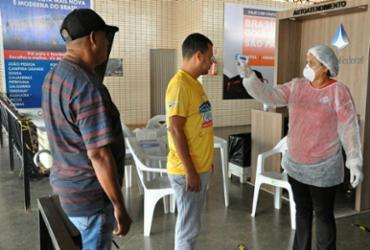 Medição de temperatura é uma das estratégias | Foto: Washington Luiz | Dircom Barreiras - Washington Luiz | Dircom Barreiras