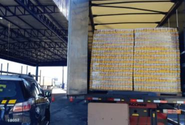 Homem é preso transportando mais de 60 mil latas de cerveja sem nota fiscal