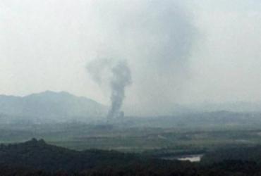 Coreia do Norte explode escritório de relações com a Coreia do Sul | Foto | STR | AFP