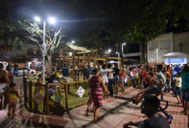 Praça vandalizada em Cosme de Farias é interditada | Max Haack | Secom