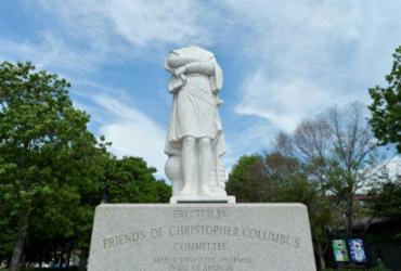 Estátua de Cristóvão Colombo é decapitada em Boston | Divulgação | AFP